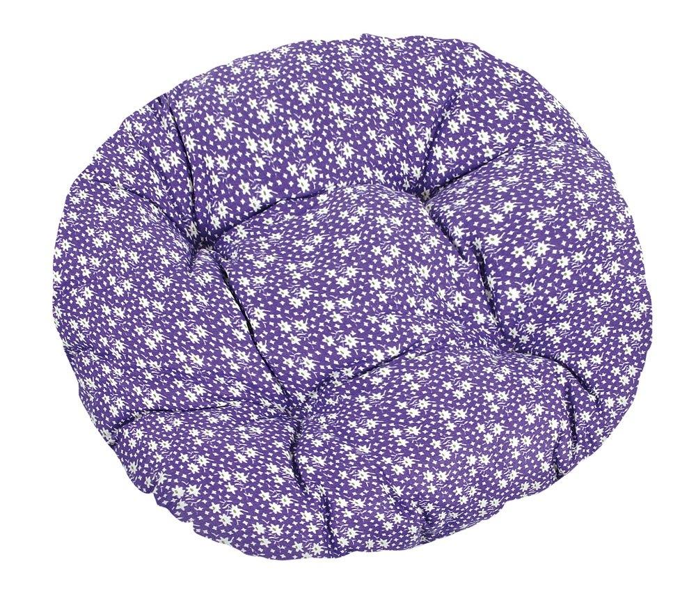 Bellatex Podsedáky na židle kulaté prošívané Adéla Rozměr průměr 40 cm, Barva kytička na fialové